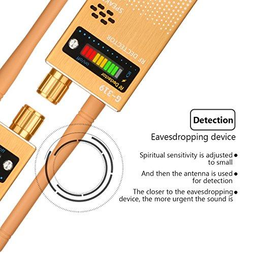 Eilimy Anti-spy Wireless RF Signal Detector Set [Upgrade Enhanced] Bug GPS Camera Signal Detector, for Detecting Hidden Camera GPS Tracker Wireless Signal Detector(Ultra-high Sensitivity) by Eilimy (Image #1)