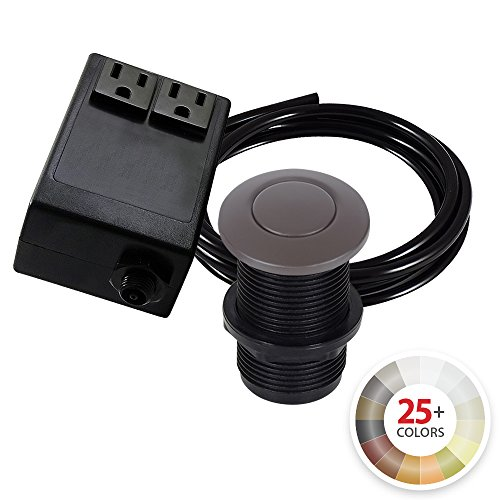 Dual Outlet Garbage Disposal Turn On/Off Sink Top Air Switch Kit in Compatible with any Garbage Disposal Unit and Available in 25+ Finishes by NORTHSTAR DÉCOR. (Standard 2-Inch, Oil-Rubbed Bronze)