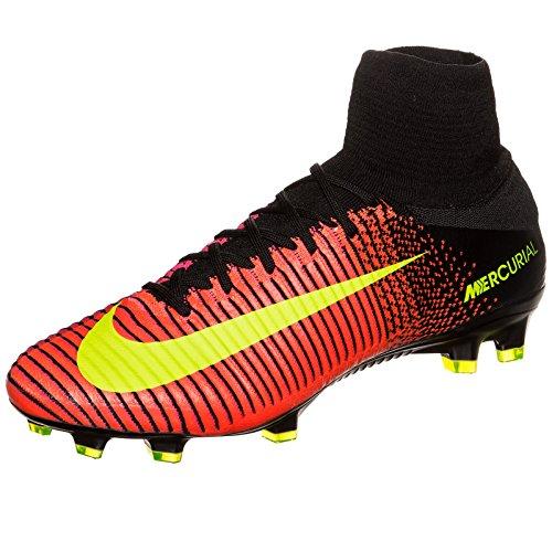 Nike Herren Mercurial Superfly V Fg Fußballschuhe, Schwarz orange (Total Crimson / Vlt-Blk-Pnk Blst)