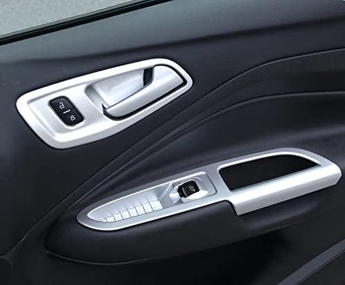 Für Kuga 2013 2018 Silber Matt Interieur Türverkleidungen Dekor 4 Stück Abs Kunststoff Auto