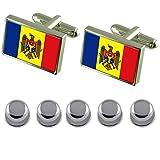 Select Gifts Shirt Dress Studs Moldova Flag Cufflinks