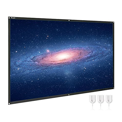 Projector Screen 100 Inch Portable HD 16:9 Projection Screen Diagonal Foldable Indoor Outdoor Movie Screen with PVC Material [並行輸入品] B07F28DWGS
