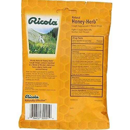 Natural Herbal Cough Drops - Honey Herb, 12 Units / 24 count ( Value Bulk Multi-pack)