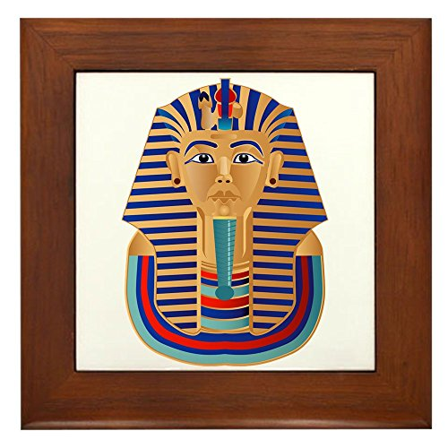 Framed Tile Egyptian Pharaoh King Tut Tutankhamun (Framed Tattoo Tile)