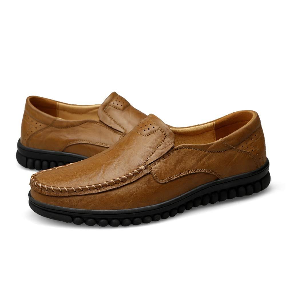 XHD-Schuhe Männer Einfache Fahrende Müßiggänger Lässige Mode Bequemer Slip On (Farbe Winter Fleece-Innenseite Hohe Stiefel (Farbe On   Warm Khaki, Größe   44 EU) 17899c