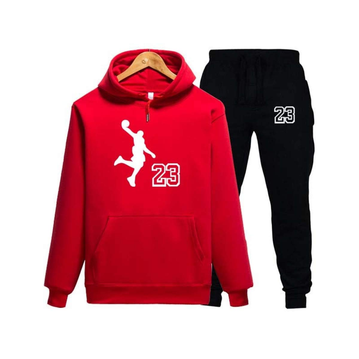 Jordan 23 Sport Suit Hoodie Hooded Men Cotton Sweatshirts Mens Casual Tracksuit at Amazon Mens Clothing store: