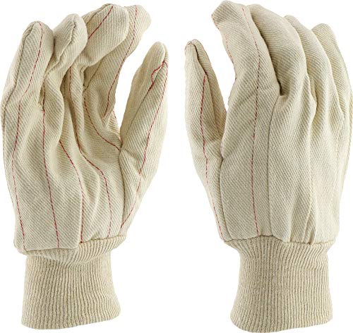 West Chester K81SNJI Medium Weight Cotton Canvas Lined Gloves, XL, White (Pack of (Westchester Cotton Gloves)
