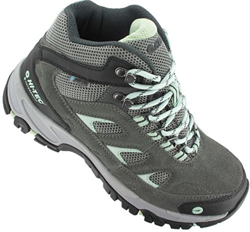 Hi-Tec Women's Wn Logan Mid Waterproof Hiking Boot, Charcoal/Cool Grey/Lichen, 9.5 M US