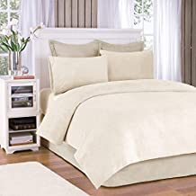 Soloft Plush Queen Bed Sheets Set, Casual Micro Plush Bed Sheets Queen, Cream Bedding Sets 4-Piece Include Flat Sheet, Fitted Sheet & 2 Pillowcases, Ivory