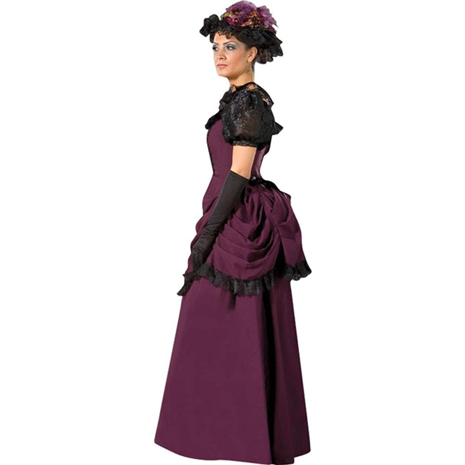 Edwardian Costumes – Cheap Halloween Costumes Womens 19th Centry Victorian Dress Theater Costume $253.99 AT vintagedancer.com