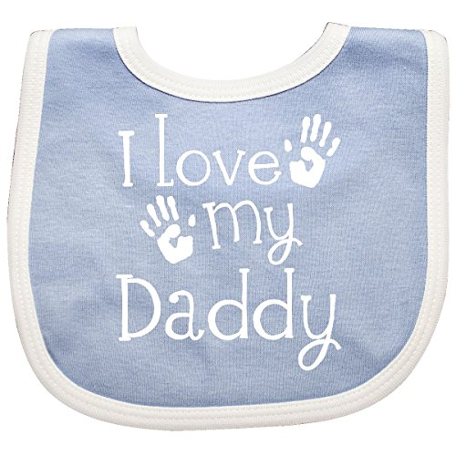 Inktastic - I Love My Daddy Fathers Day Baby Bib Blue/White 2d45d