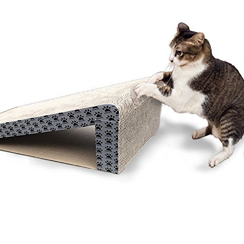 iPrimio Cat Scratcher Ramp - Foldable for Travel and Easy Storage - Great for Cats Playing Over, Laying, and Scratching - Patent Pending Design