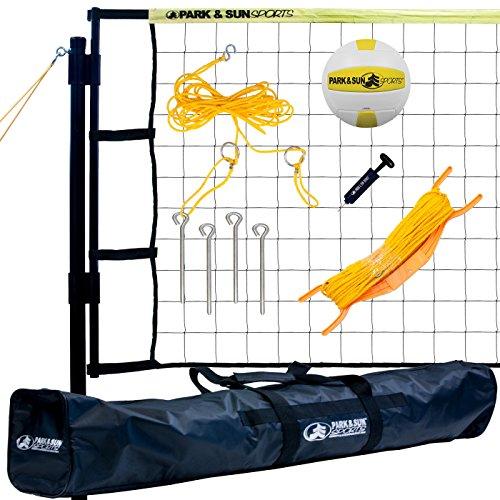 Park & Sun Sports Tournament Flex: Portable Outdoor Volleyball Net System, Yellow ()