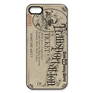 Custom Disneyland Ticket TPU Cases Protector Snap On Cover For Iphone 5s, iphone 5 Case