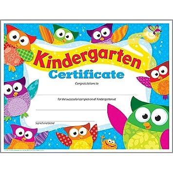 Amazon kindergarten certificate owl starstm blank kindergarten certificate owl stars yadclub Choice Image