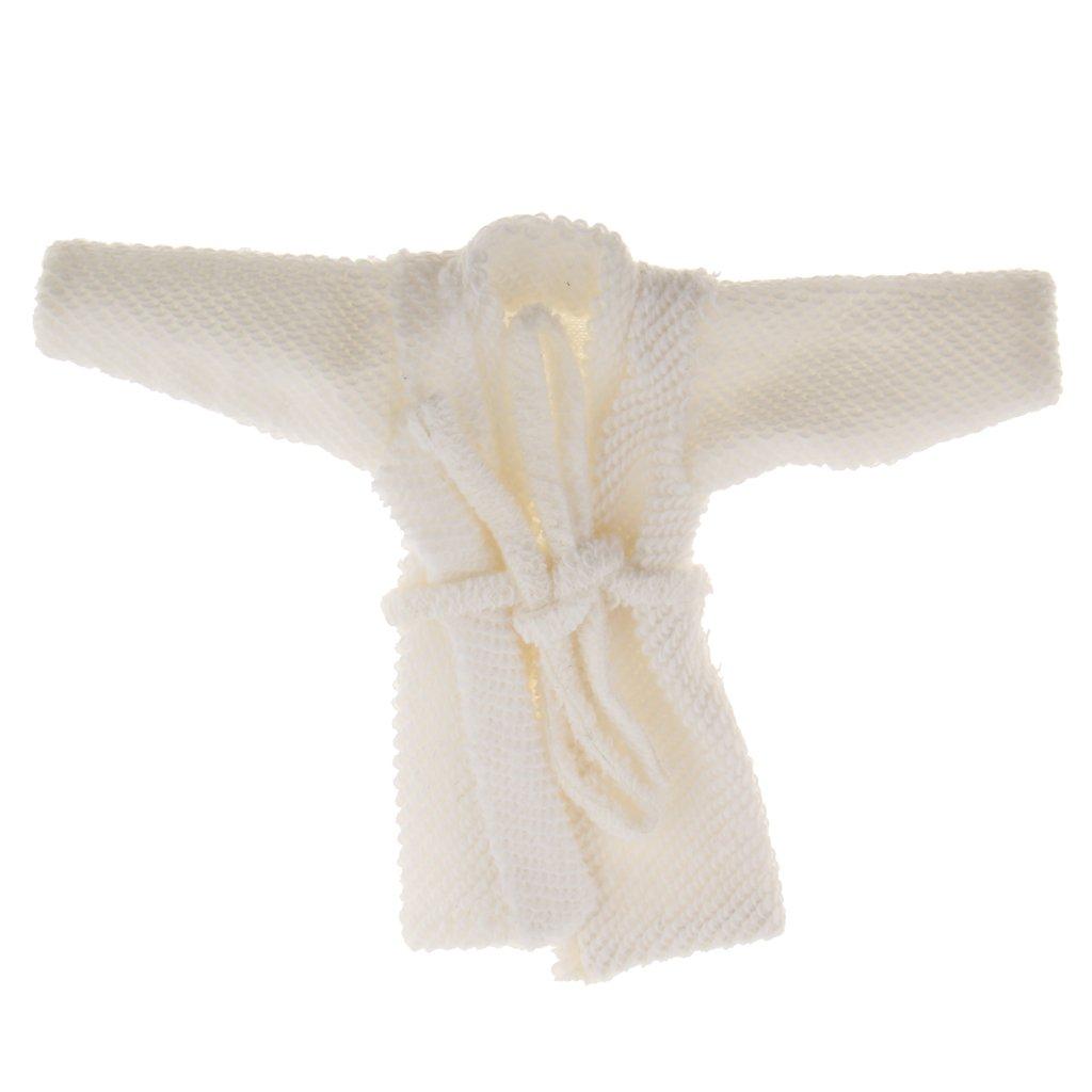 Jiliオンライン1 : 12ドールハウスホワイトバスローブ人形Bathing Clothesバスルーム装飾 B078NXY2TT