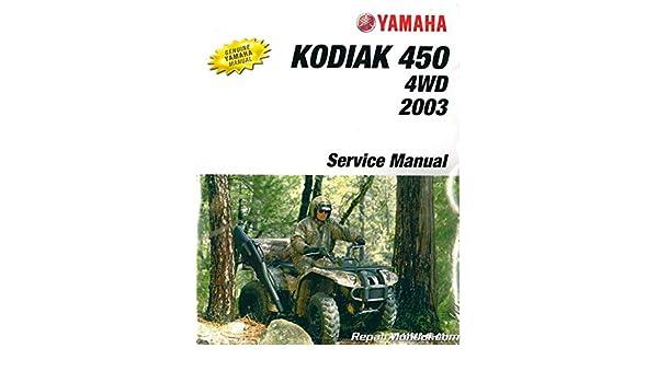 2003 yamaha kodiak owners manual