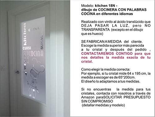 TOKPERSONAL Vinilo al Acido para Cristales COCINERITA k18N ...