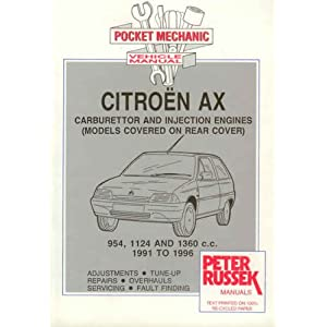 Citroen AX Petrol Models, 1991 to 1997 (Pocket Mechanic) Peter Russek