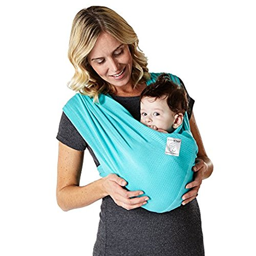 Baby K'tan BREEZE Cotton Mesh Wrap style Baby Carrier, Teal, Small
