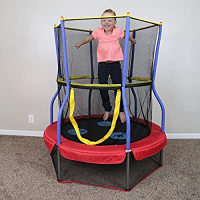 Skywalker Trampolines Round Bouncer Trampoline with Enclosure, 48-Inch | Educational Toys