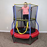 Skywalker-Trampolines-Round-Bouncer-Trampoline-with-Enclosure-48-Inch
