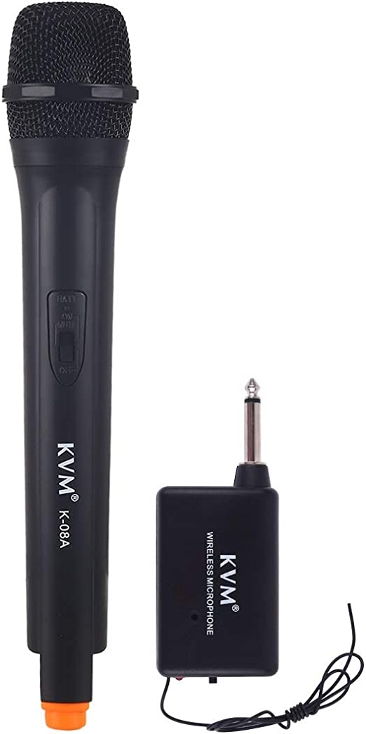 RUNNA Micr/ófono inal/ámbrico de Mano KVM K-08A con Receptor Color : Black