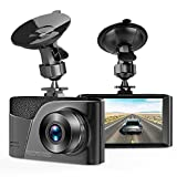 Dash Cam,TUSAZU Camera for Cars with Full HD 1080P 170 Degree Super Wide Angle Cameras, 3.0' TFT Display, G-Sensor, Night Vision, WDR, Loop Recording