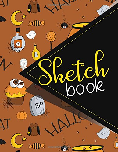 Sketchbook: Sketch Book, Comic Book Sketchbook, Makeup Artist Sketch Book, Sketch Notebook For Girls, Sketching Books For Teenagers, Cute Halloween Cover. 8.5 x 11 (Volume 23)]()