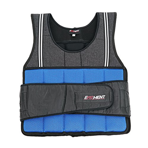 EFITMENT Adjustable Weighted Vest for Fitness (20 lb, Medium) – A002 For Sale