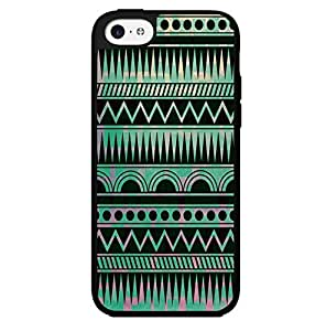 Teal Aztec Pattern Hard Snap on Phone Case (iPhone 5c)