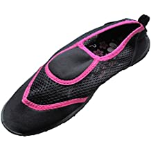 Women's Pink & Black Aqua Socks Water Shoes Active Stride Sz. 7/8