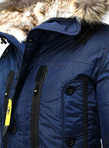 para Marino Geographical Norway Hombre Abrigo Azul wfxxHqZU7