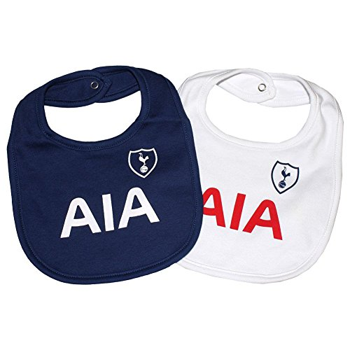 fan products of Tottenham Hotspur FC Bibs - Set of 2 - Bibs feature Spurs team colors and crest - Great for the Little Tottenham Hotspur FC fan - One Bib is Blue, One Bib is White - Tottenham Hotspur FC Soccer