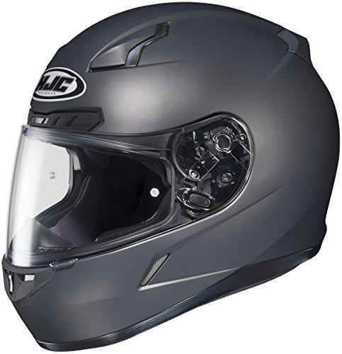 HJC 0851-0137-07 CL-17 Solid Helmet, Gender: Mens/Unisex, Helmet Type: Full-face Helmets, Helmet Category: Street, Distinct Name: Matte Anthracite, Primary Color: Gray, Size: - Gray Matte Color