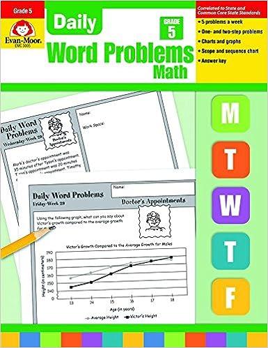 Daily Word Problems, Grade 5: Amazon.ca: Evan-Moor ...