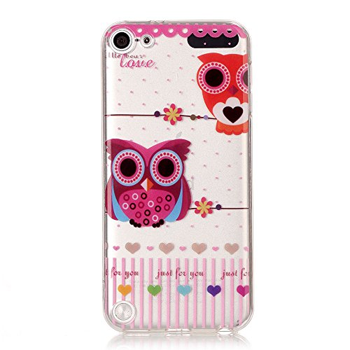 iPod Touch 6th Generation Case,iPod Touch 5 Case, Alkax Cute Pattern Design Clear Soft TPU Case Bumper Slim Thin Cover for Grils Kids Rubber Protective Case Design for Apple iPod -