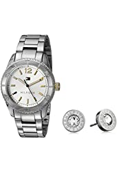 Tommy Hilfiger Women's Quartz Stainless Steel Casual Watch and Earrings Set (Model: 2770007)