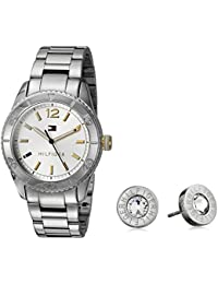 Women's Quartz Stainless Steel Casual Watch and Earrings Set (Model: 2770007)