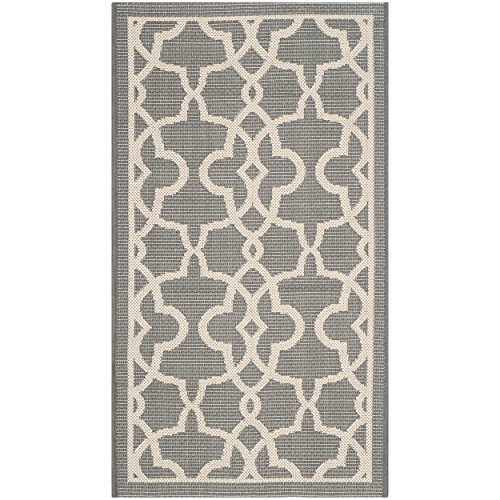 Safavieh Courtyard Collection CY6071-246 Grey and Beige Indoor/Outdoor Area Rug (2' x 3'7
