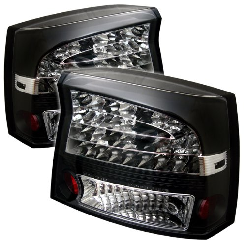 Sold in Pairs AnzoUSA 321229 Dark Smoke LED Taillight for Dodge Charger