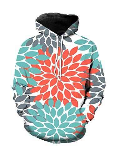 WAZZIT Unisex 3D Printed Long Sleeve Hoodies Hooded Casual Sweatshirts Pocket Pullover, XXXL ()
