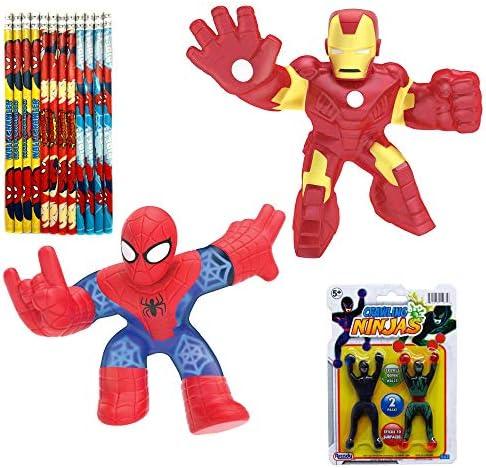 Heroes of Goo Jit Zu Marvel Hero Action Figures - Ironman and Spiderman (2-Pack Gift Set)