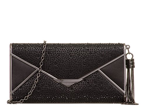 Bag Women's Handbags Clutch Evening 771 Black Wedding LeahWard Diamante Rhinestone CTvfwq