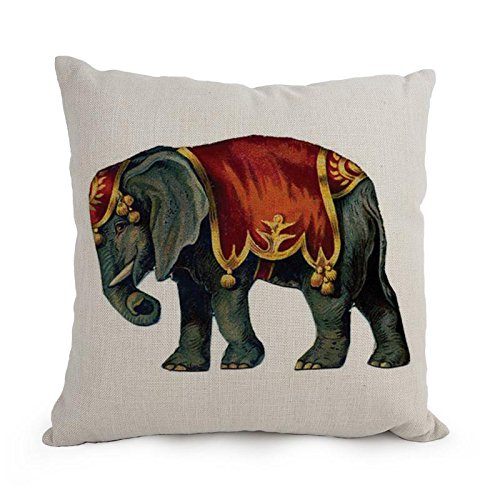 [Artistdecor 18 X 18 Inches / 45 By 45 Cm Elephant Throw Pillow Case ,double Sides Ornament And Gift To Divan,husband,dance Room,relatives,home] (Bull Rider Costume Toddler)