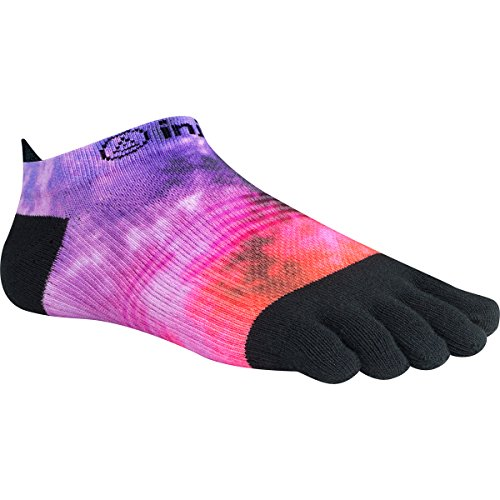 Injinji Women's Run Lightweight No Show Coolmax Xtra Socks, Boysenberry Spectrum, Medium/Large
