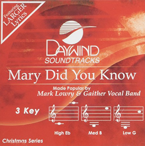 Mary Did You Know [Accompaniment/Performance Track] Recording Backing Tracks