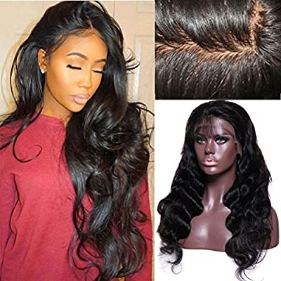 Brazilian Virgin Hair Remy Wigs Body Wave Lace Front Wigs Human Hair with Baby Hair for Black Women African Americans Wigs Pre Plucked Hairline 22 Inch