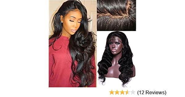 Amazon.com: Brazilian Virgin Hair Remy Wigs Body Wave Lace Front Wigs Human Hair with Baby Hair for Black Women African Americans Wigs Pre Plucked Hairline ...
