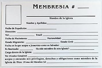 Amazon.com : TARJETA DE MEMBRESIA (100 und.) : Office Products
